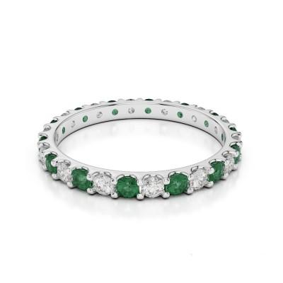 Inel Eternity cu smarald și diamante