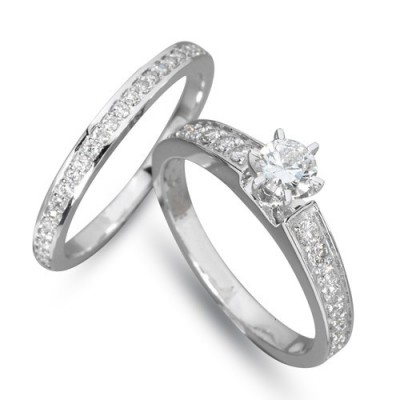 Inele cu diamante Twins